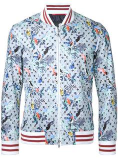 куртка-бомбер  с цветочным принтом Loveless