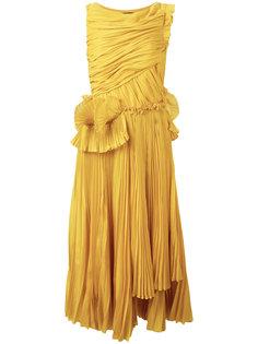 плиссированное платье Rochas
