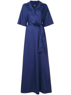 long woven wrap dress Paule Ka