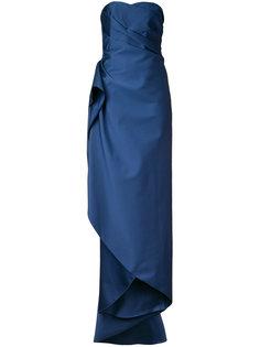 длинное платье без бретелек  Paule Ka