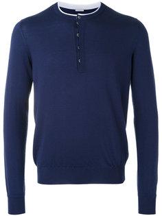 свитер с контрастной окантовкой Malo