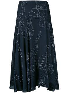 юбка с цветочным узором Paul Smith