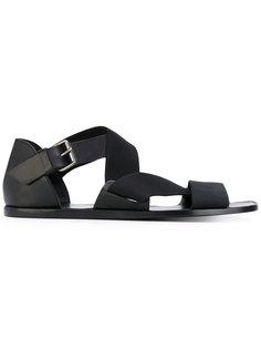 сандалии с ремешками крест-накрест Lemaire