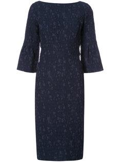 приталенное платье с принтом Lela Rose