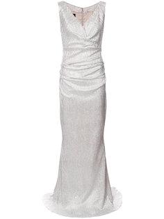 приталенное длинное платье Talbot Runhof