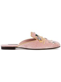 бархатные слипперы Jackie  Dolce & Gabbana