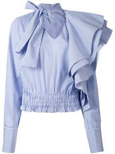 полосатая рубашка с рюшами Off-White
