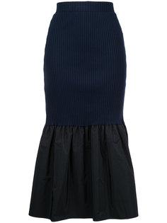 юбка с баской в рубчик Le Ciel Bleu