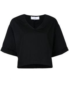 укороченная блузка с V-образным вырезом Le Ciel Bleu