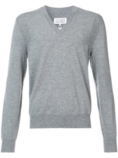 свитер с V-образным вырезом Maison Margiela