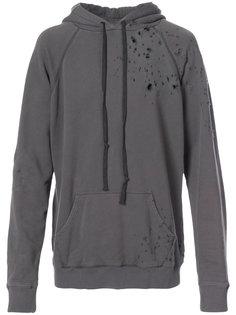 Destroyed Hero hoodie Greg Lauren