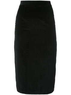 pencil skirt with pleated back Olympia Le-Tan