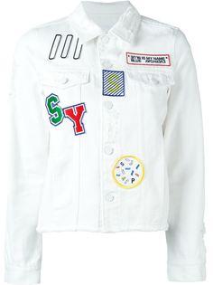 джинсовая куртка с заплатками Steve J & Yoni P