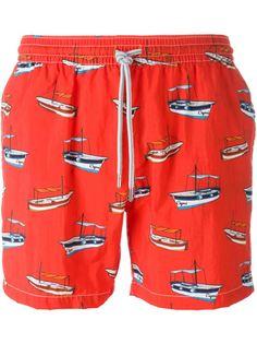 плавательные шорты с принтом лодок Capricode