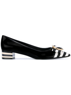туфли с носком в полоску Salvatore Ferragamo