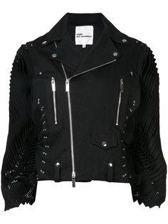 pleated sleeves biker jacket  Comme Des Garçons Noir Kei Ninomiya