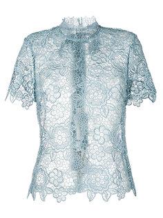 кружевная блузка с высоким воротником Self-Portrait