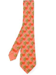 галстук с принтом пальм Hermès Vintage