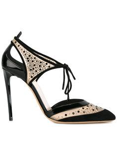 туфли с вырезными деталями Giorgio Armani