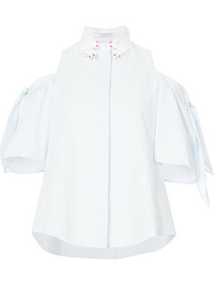 блузка в полоску с открытыми плечами  Vivetta