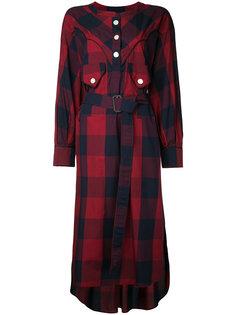 платье в клетку  Maison Mihara Yasuhiro