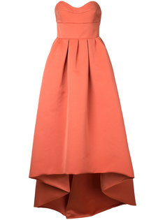 strapless high low woven dress Paule Ka