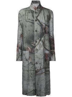 двустороннее пальто с принтом  Forme Dexpression