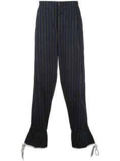полосатые брюки Loewe