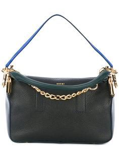 сумка с ярко-синей ручкой Sacai