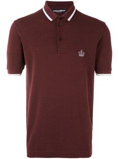 футболка-поло с вышивкой короны Dolce & Gabbana