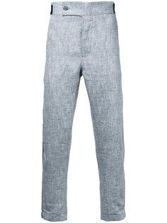 укороченные брюки с контрастной окантовкой Ann Demeulemeester