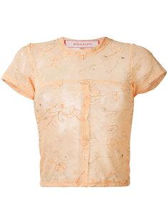 сетчатая футболка с вышивкой  Eckhaus Latta