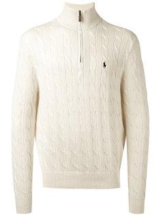 джемпер на молнии вязки косичкой  Polo Ralph Lauren