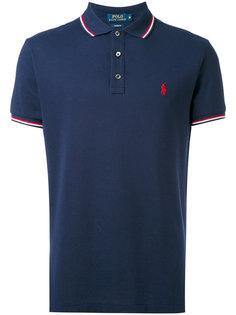 футболка-поло с полосатой окантовкой  Polo Ralph Lauren