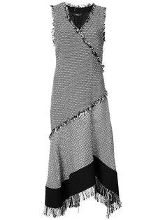 твидовое расклешенное платье Derek Lam