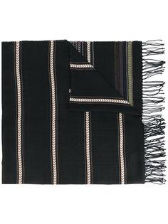 шарф с бахромой и этническим узором Dondup