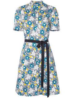 платье-рубашка с цветочным узором Carolina Herrera