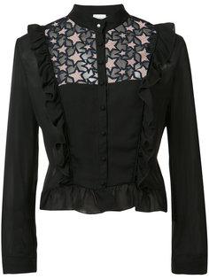 блузка с кружевными вставками и оборками Fleur Du Mal