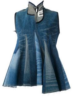 джинсовый топ с баской Junya Watanabe Comme Des Garçons