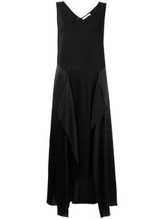 асимметричное платье с шелковыми панелями Astraet