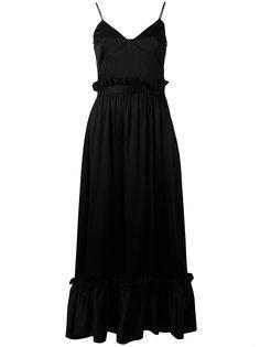 платье-миди смещенного силуэта MSGM