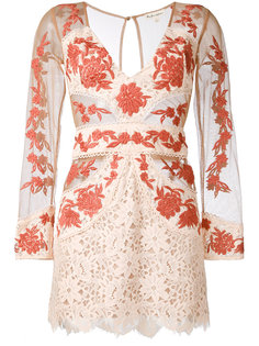 sheer detail fitted dress For Love And Lemons