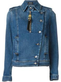 джинсовая куртка в байкерском стиле Anthony Vaccarello
