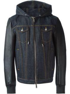джинсовая куртка с контрастными карманами Dsquared2