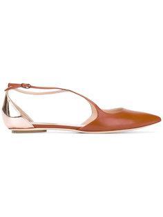 балетки с заостренным носком Casadei