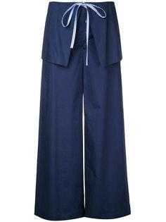 широкие брюки с накладными панелями Le Ciel Bleu