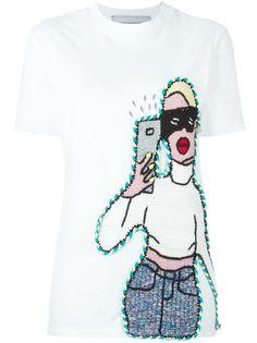футболка в стиле кроше с селфи Michaela Buerger