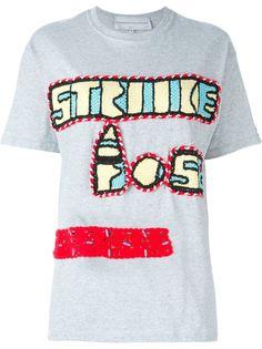 футболка с аппликацией в стиле кроше Michaela Buerger