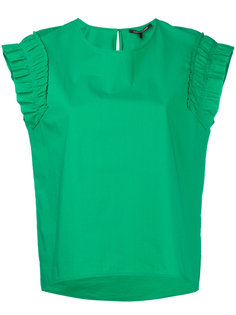 ruched sleeves T-shirt  Luisa Cerano