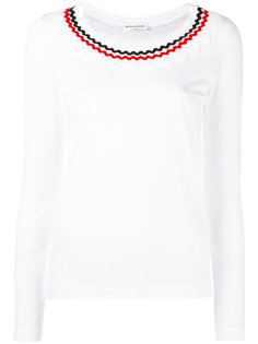 футболка с декорированной горловиной Sonia Rykiel